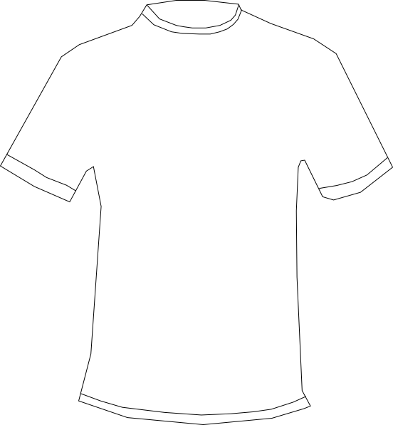 Vector tee blank. Free t shirt outline
