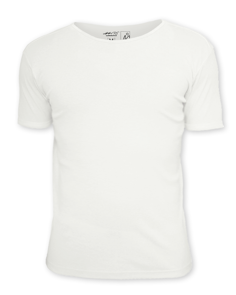 white tshirt front and back png