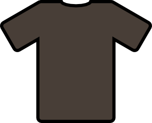 Tshirt svg free t shirt. Brown clip art at