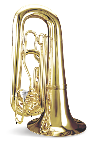 Tuba transparent 4 valve. Tama marching percussion and