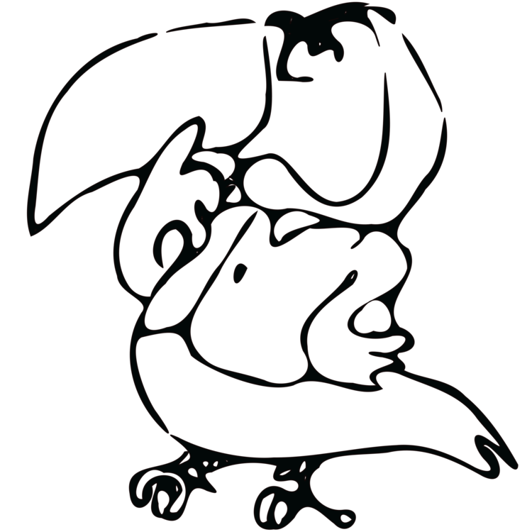 Tucan drawing. Computer icons line art