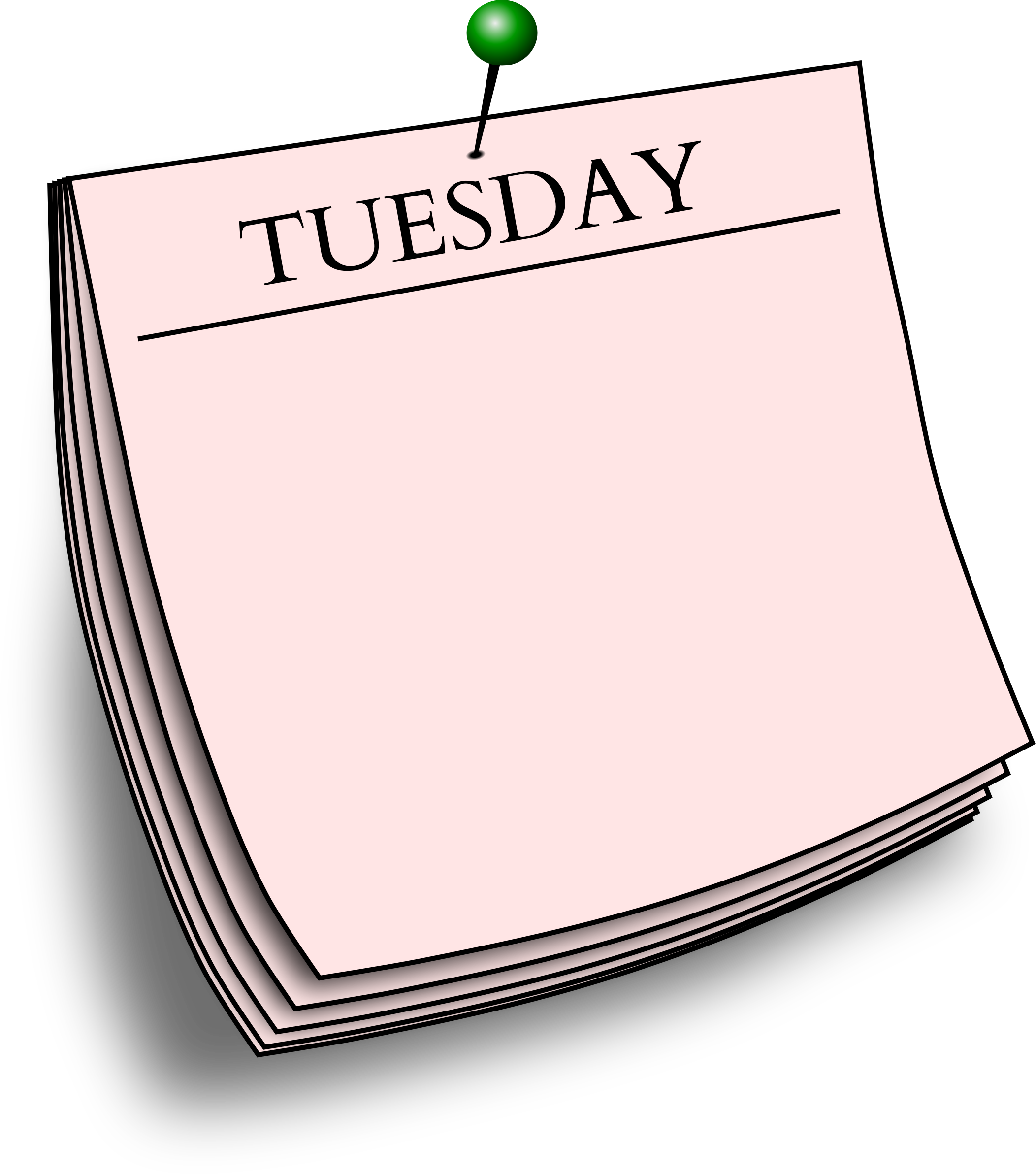 Tuesday clipart. Daily note big image