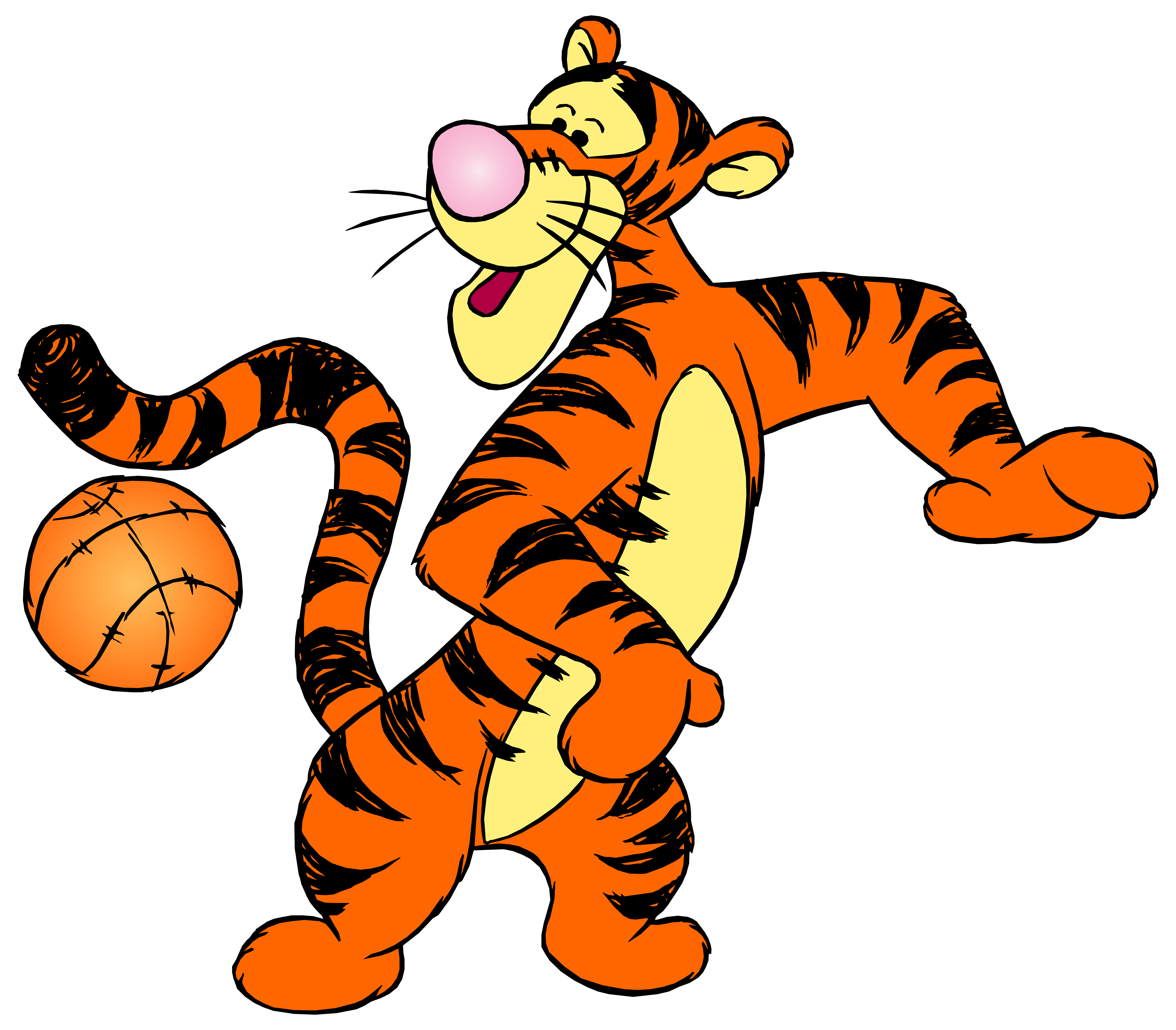 tigger transparent orange