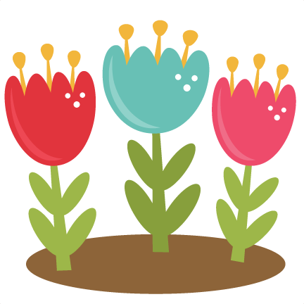 Spring tulips cutting files. Tulip svg svg