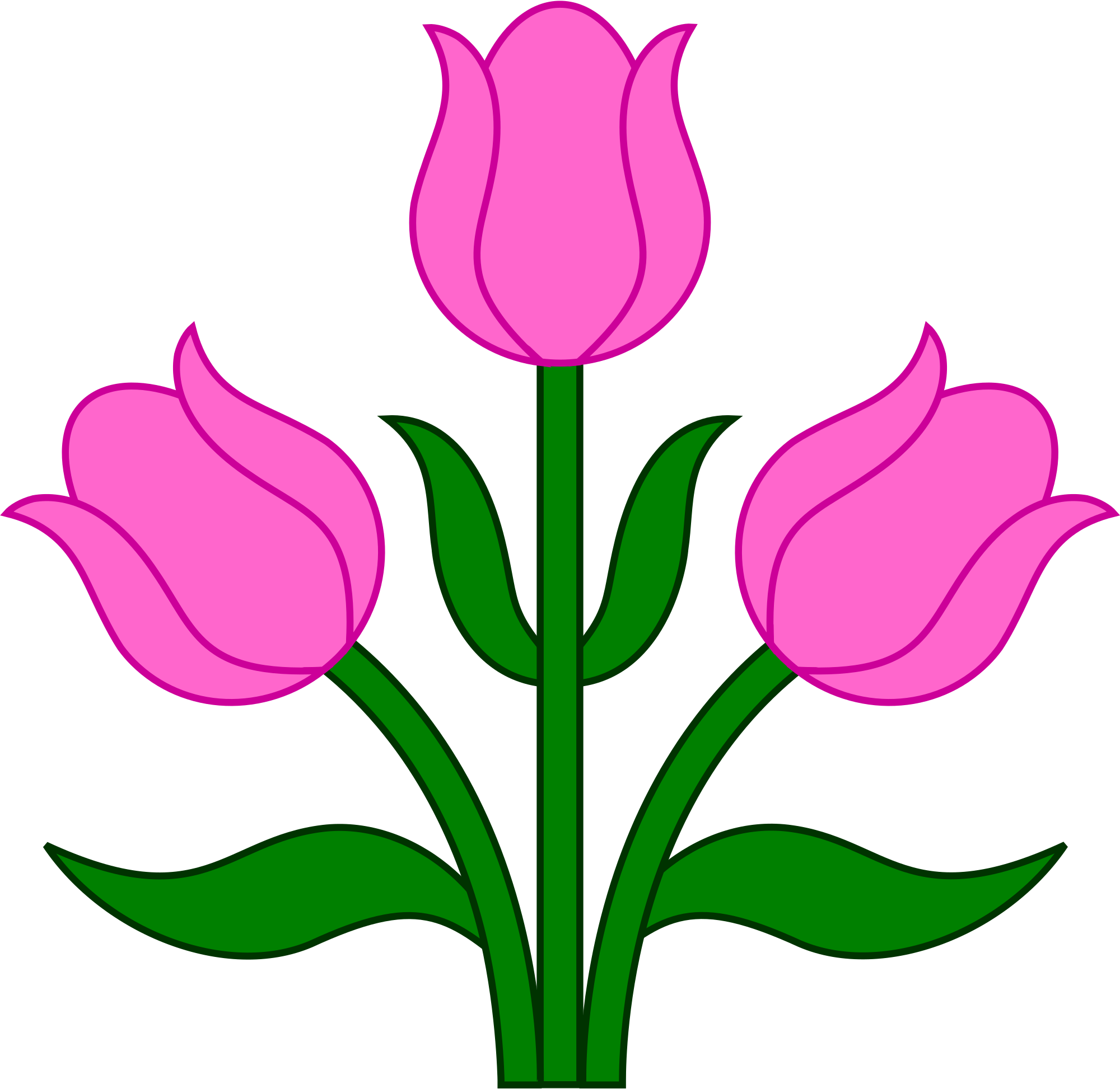 File tulips wikimedia commons. Tulip svg svg library library