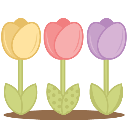Tulips cutting files for. Tulip svg picture free library