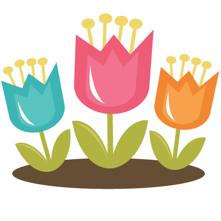 Tulips files for scrapbooking. Tulip svg vector freeuse stock