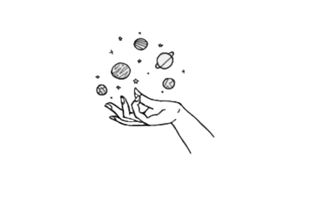 Tumbler drawing planet. Planets tumblr hands sticker