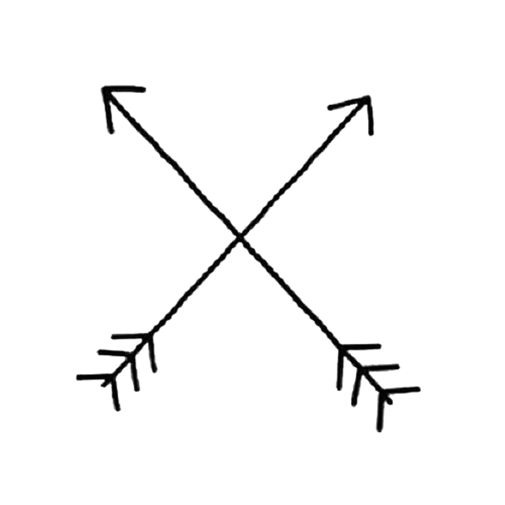 Arrow cross draw cute. Flechas tumblr png banner royalty free library