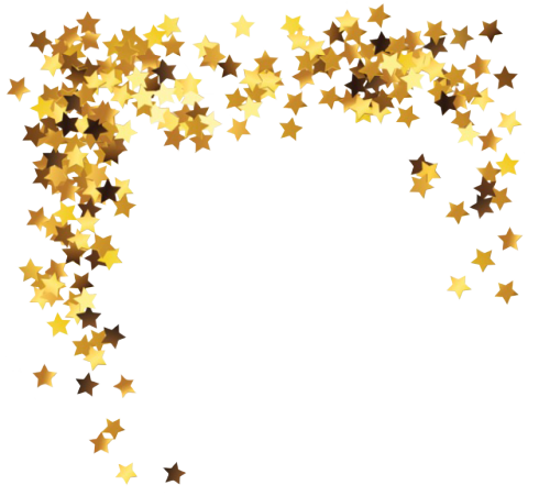 Stars tumblr png. Gold golden frame transparent