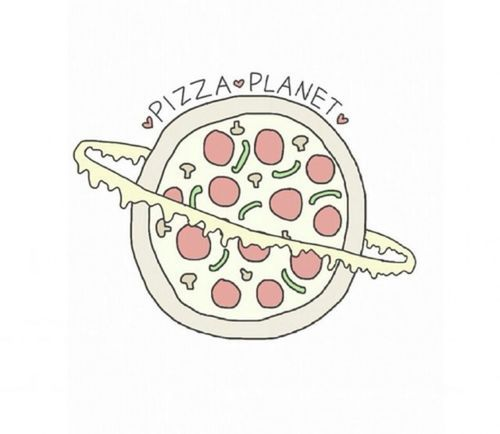 Tumblr clipart planet. Pizza via pinterest crazy