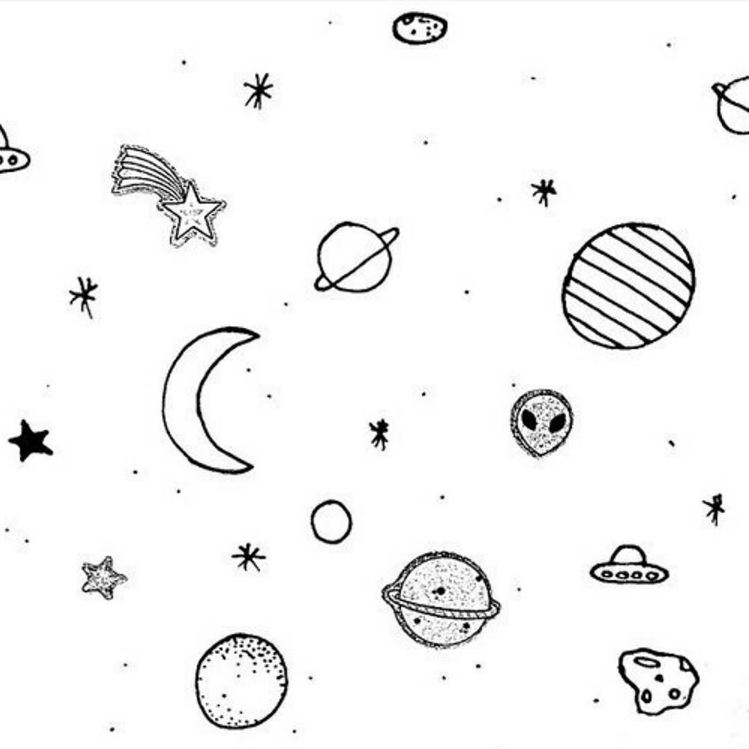 Tumblr clipart planet. Outer space drawing at