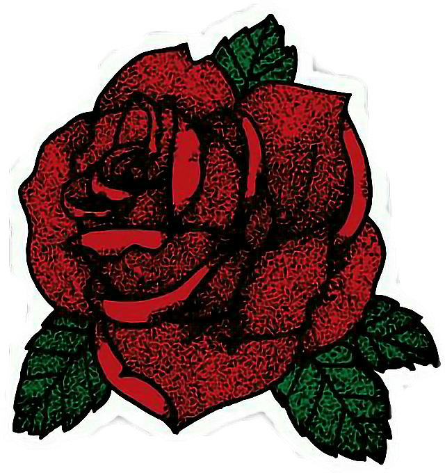 Tumblr clipart rose. Stickers cute overlay roses