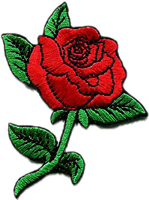 Aesthetic rose png. Patch tumblr cute kawaii