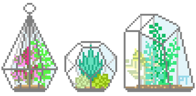 Tumblr clipart succulent. Pixels by aesthetic on
