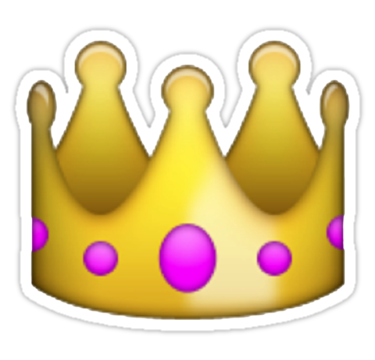 Tumblr crown png. Transparent stickers emoji just