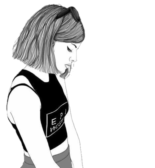 Drawing sadness sad girl photography tumblr black white. Overlay w pinterest