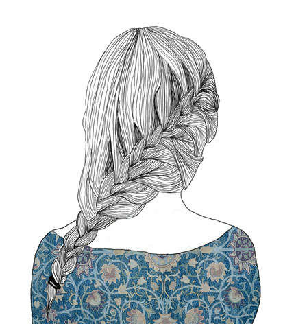 Drawing Scarf Short Girl Hairstyle Transparent Png Clipart Free