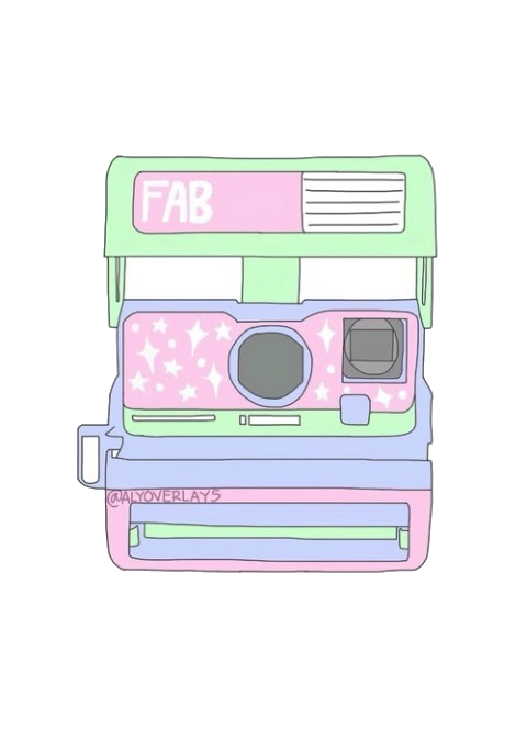 tumblr png pink polaroid camera