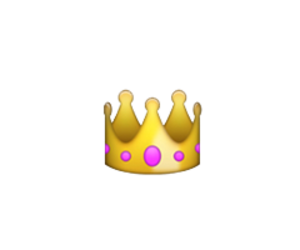 Tumblr overlays png emoji. Image about crown overlay