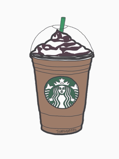 Drawing coffee iced. Frapuccino tumblr wallpaper pinterest