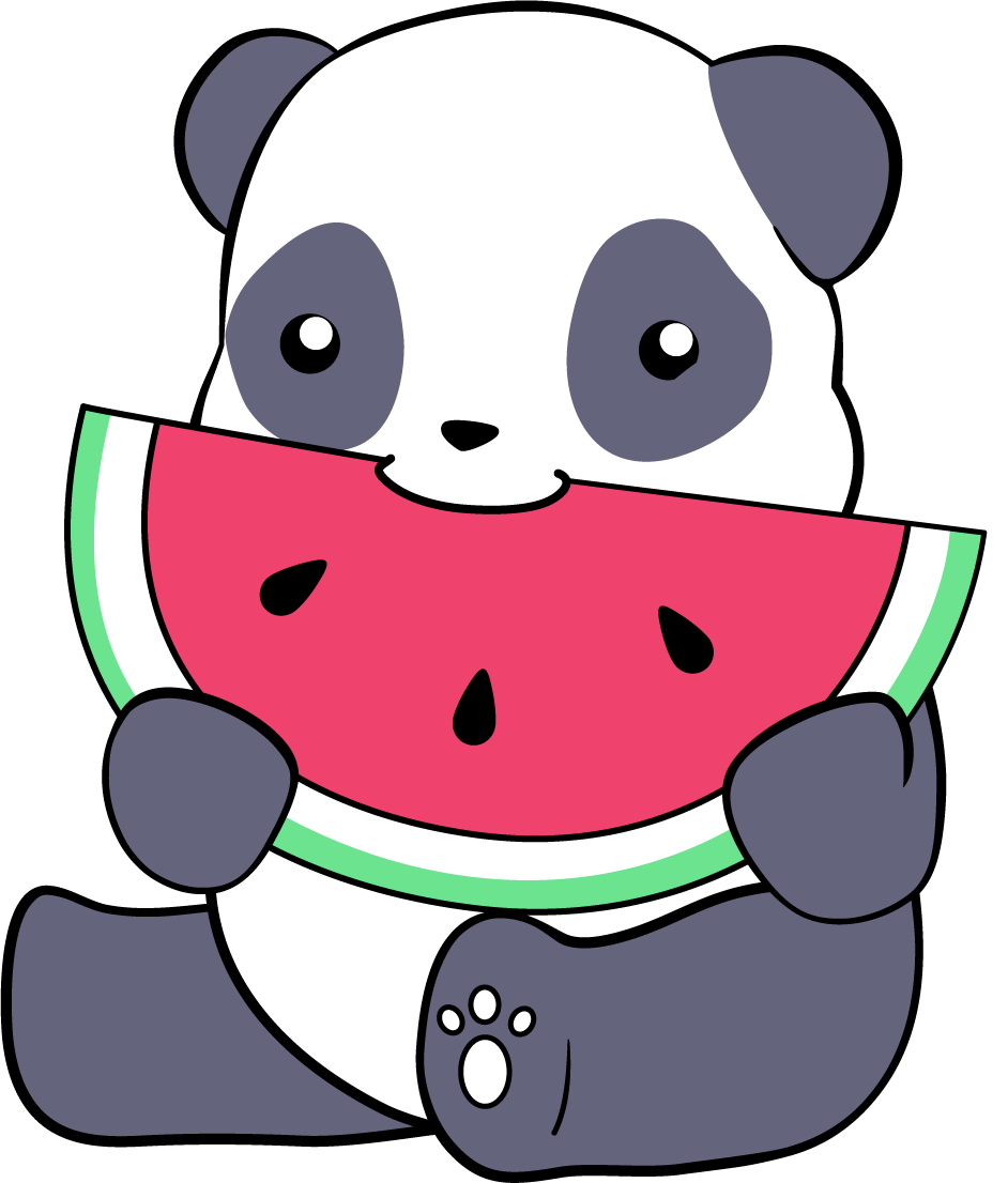 Tumblr panda png. And a watermelon by