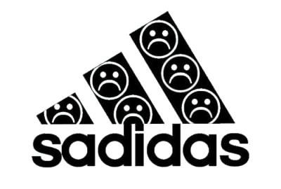 Black and white aesthetic png. Adidas tumblr