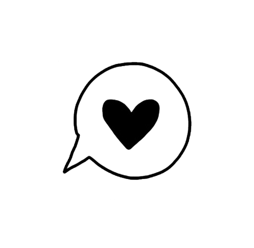 Speech bubbles reblog transparents. Png tumblr heart clip black and white