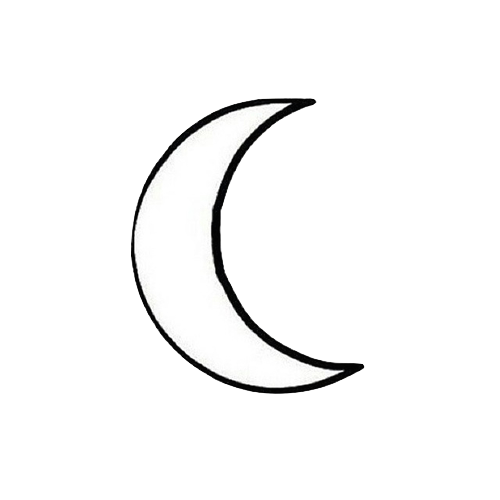 Tumblr moon png. Black