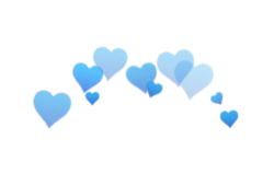 Blue png tumblr. Hearts photobooth in different