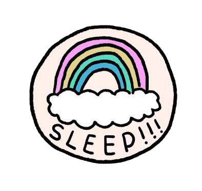 Tumblr png cute. Sticker kawaii sleep pngs