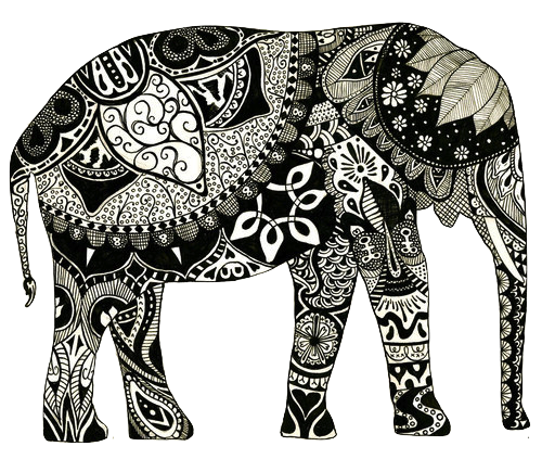 Tumblr png elephant. Hipster discovered by