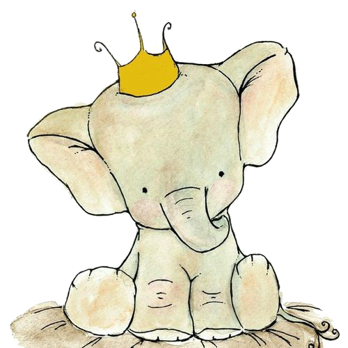 Tumblr png elephant. Cute prince gettin crafty