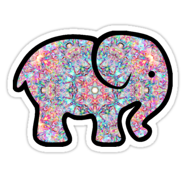 Tumblr png elephant. Stickers by sophh redbubble