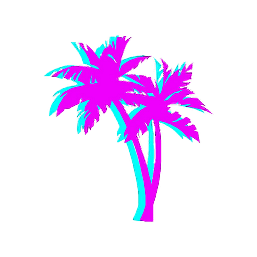 Tumblr png palm tree. Palmtree night japan aesthetic