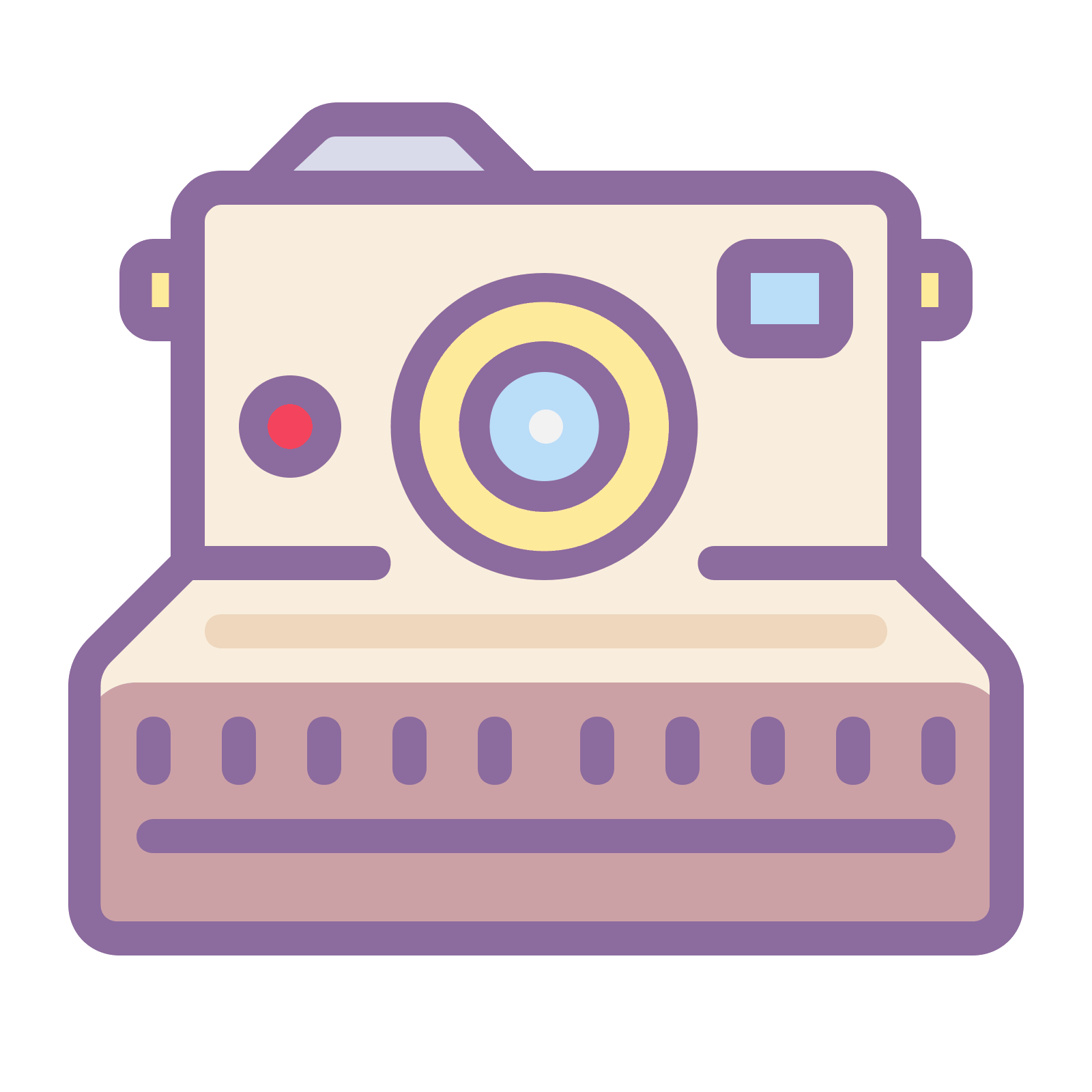 Tumblr png pink polaroid camera. Icon free download and