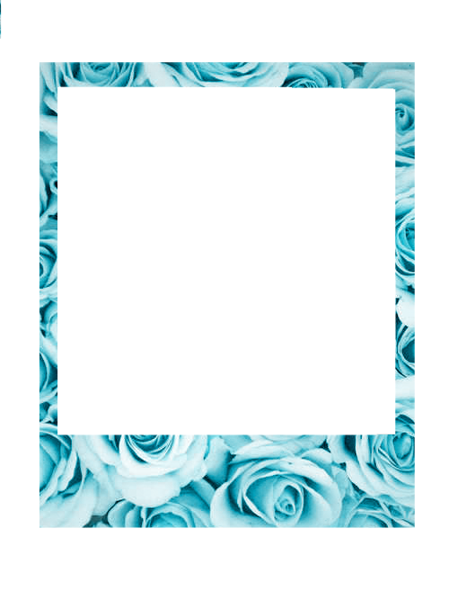 Borde marco palommzz blue. Tumblr polaroid png graphic royalty free