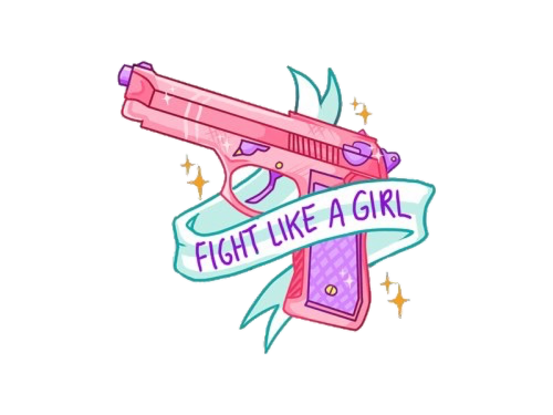 Tumblr sticker png. Fight like a girl