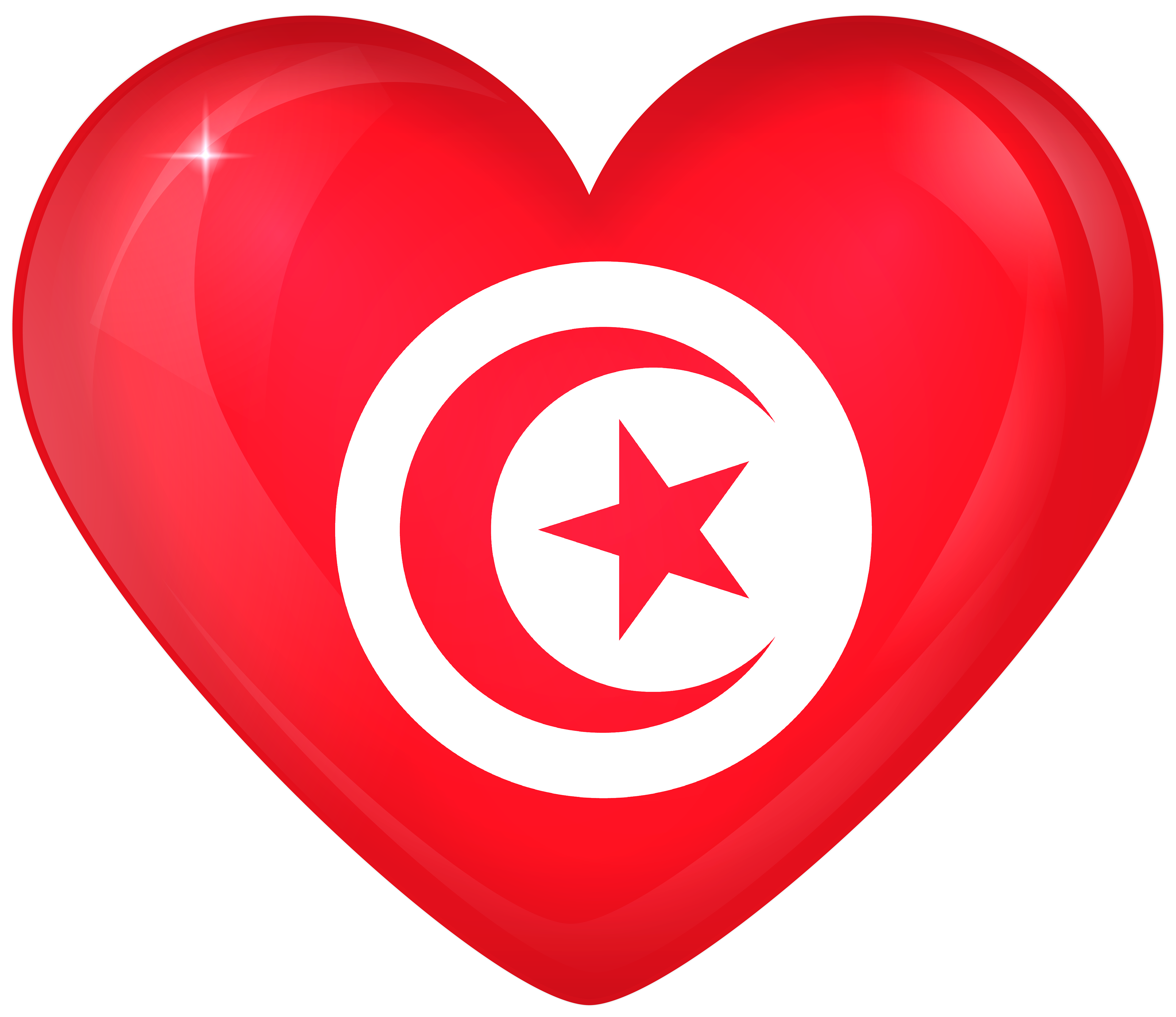 Tunisia flag png. Large heart gallery yopriceville