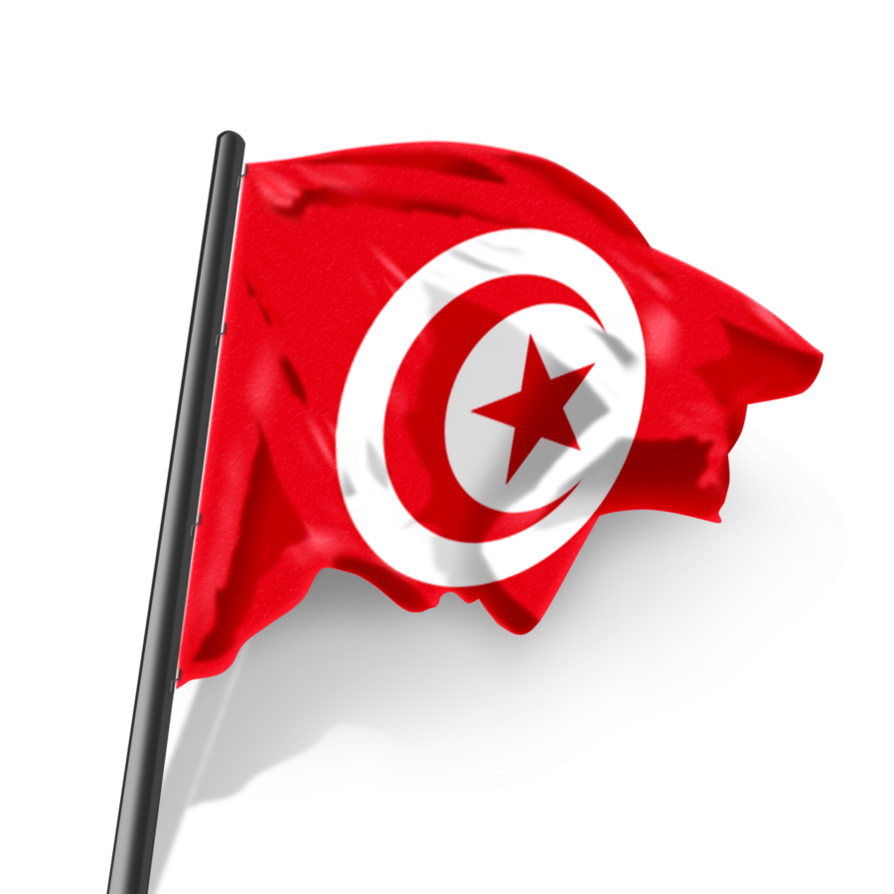 Tunisia flag png. Waving by fareseleil on