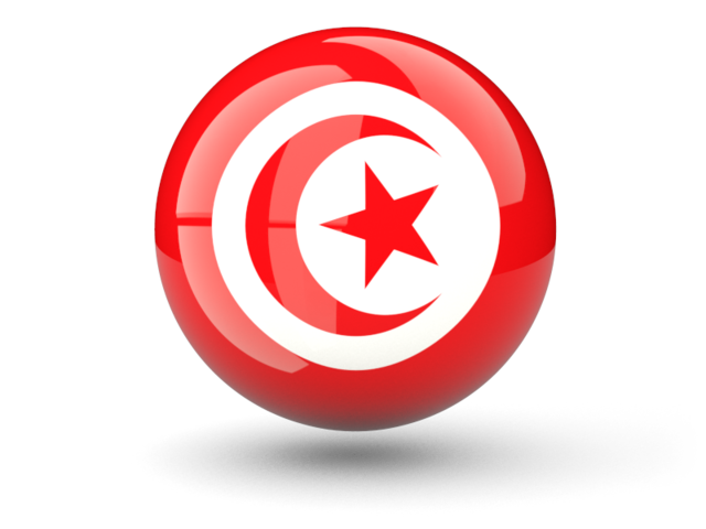 Tunisia flag png. Sphere icon illustration of