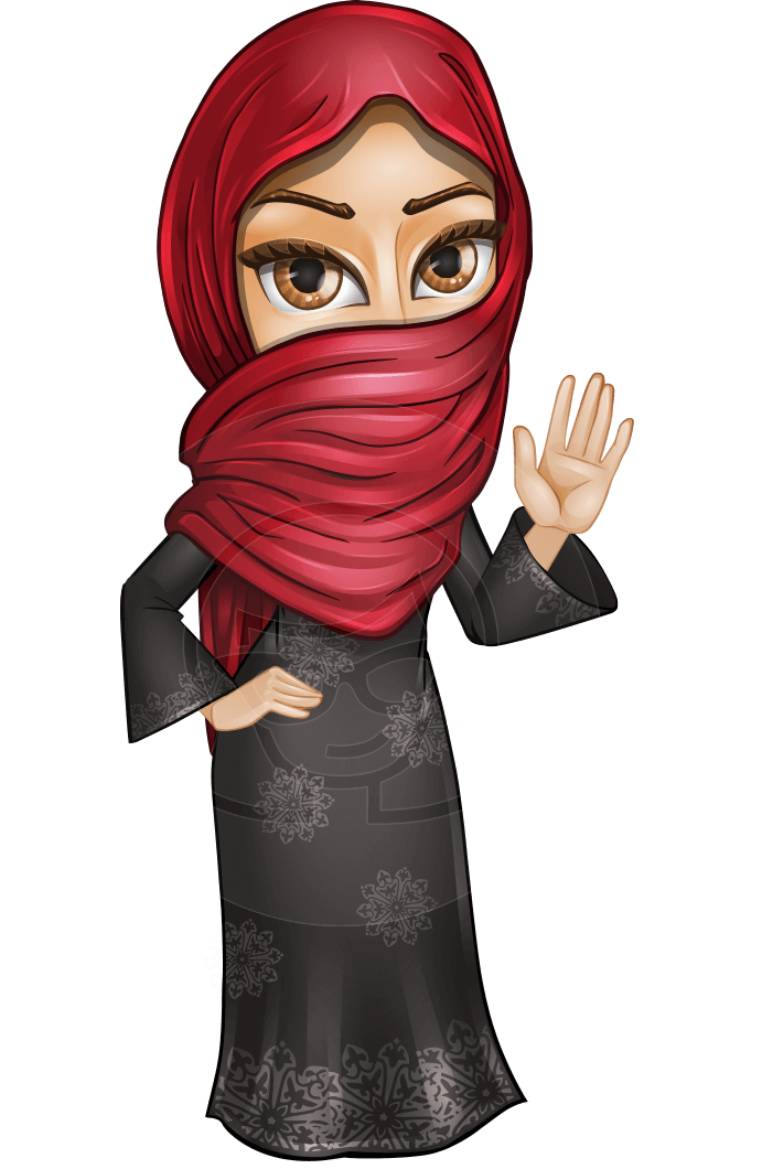Turban drawing animated. Najla the wide eyes