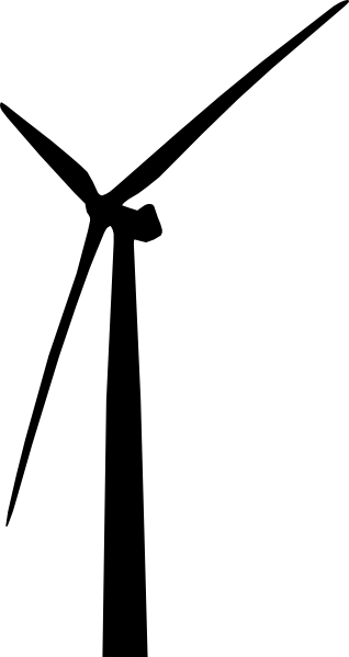 vector windmill white background