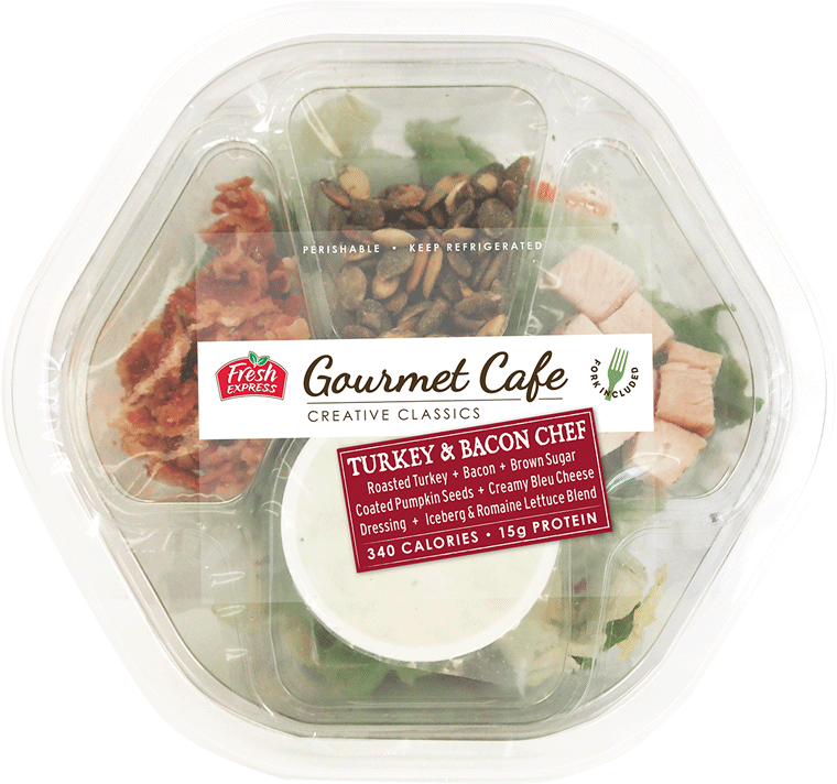 Turkey chef salad png. Gourmet cafe salads bacon