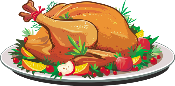 Chicken clipart chicken dish. Turkey dinner panda free