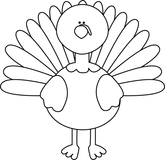 Turkey clip art black and white. Free in clipart