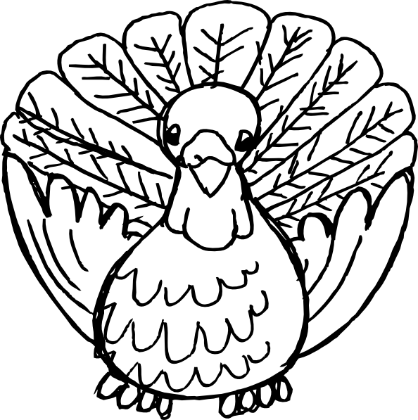 Turkey clip art black and white. At clker com vector