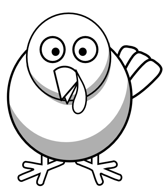 Turkey clip art black and white. Clipart panda free images
