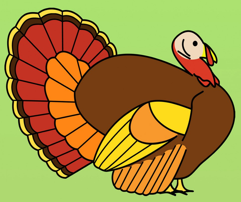 Turkey clip art colorful. Color of a