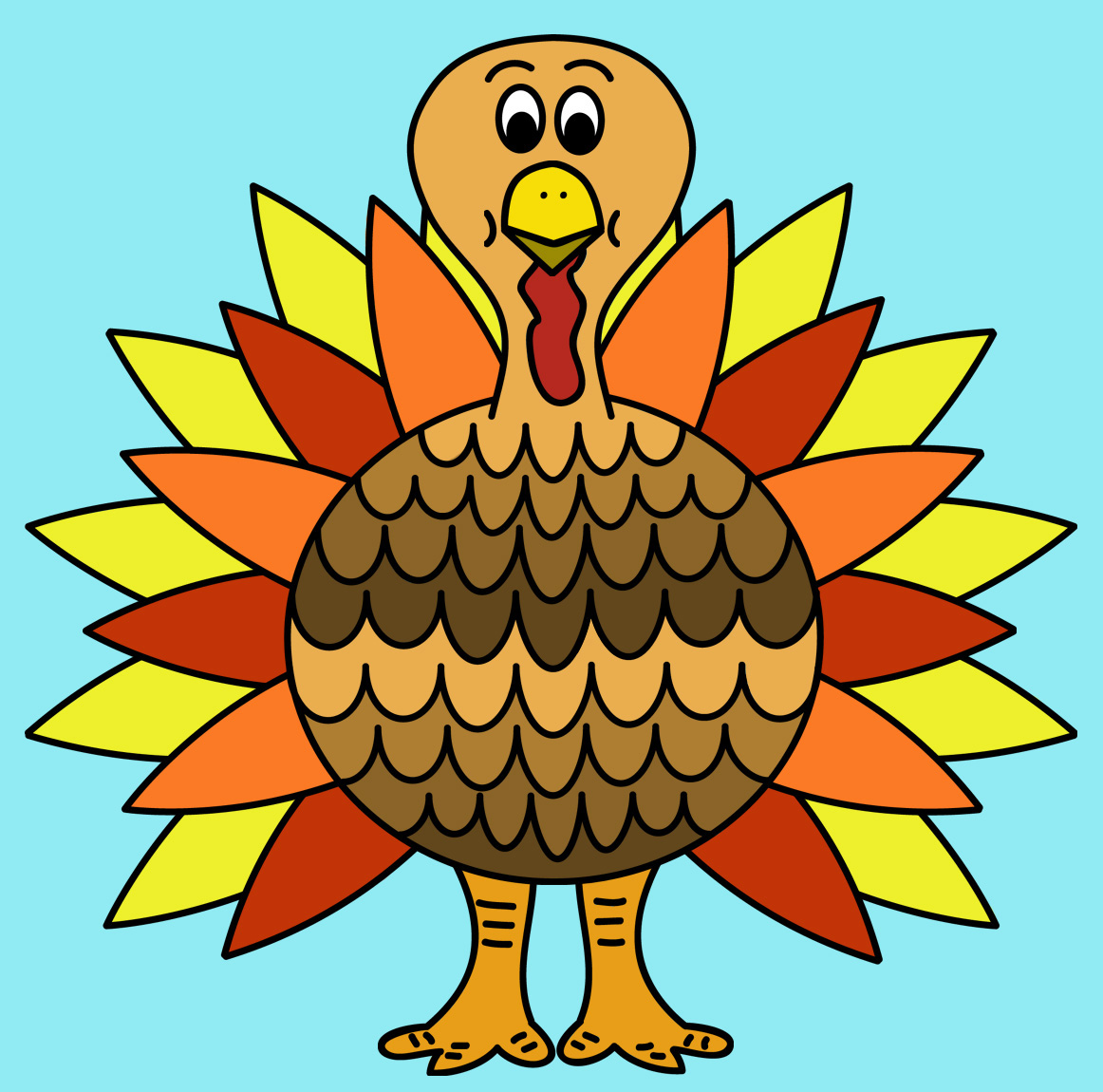 Turkey clip art colorful. Free clipart
